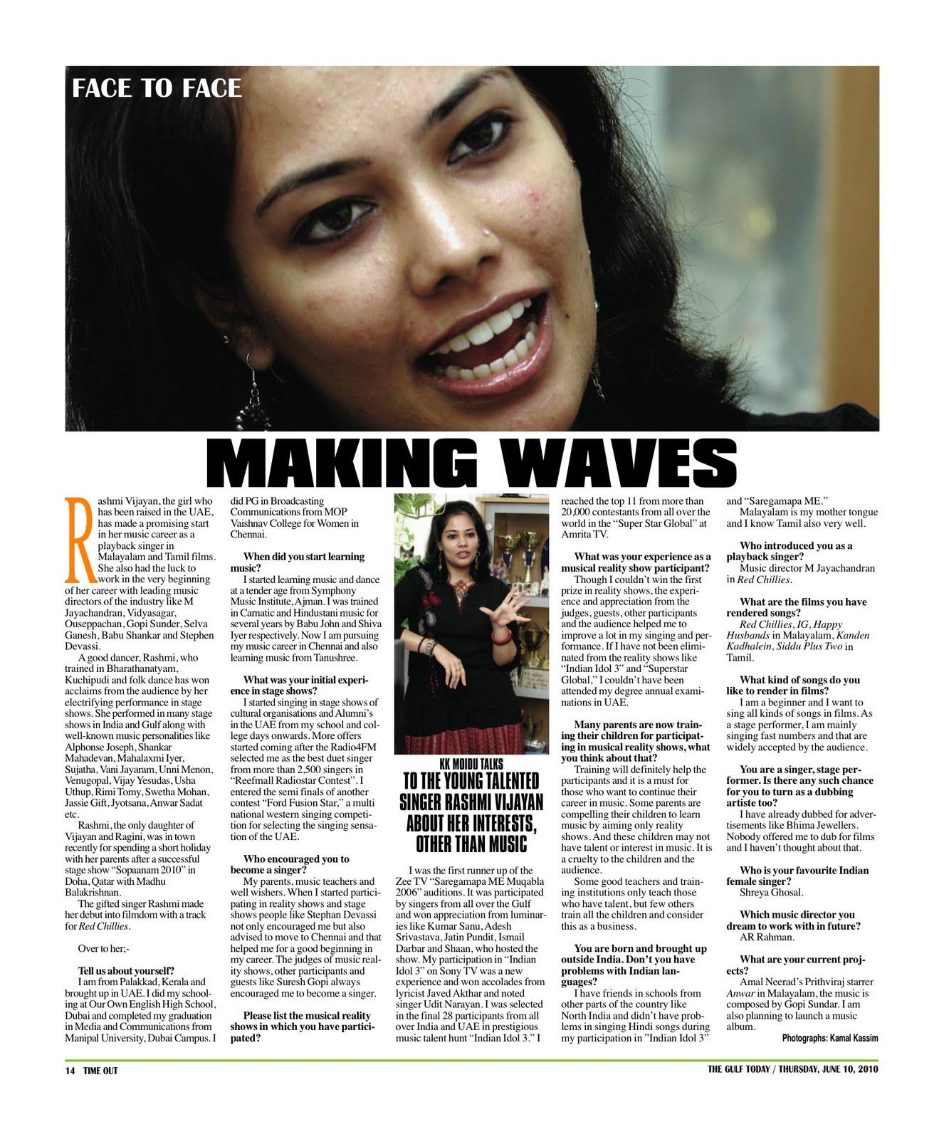 cinema4uTV: Making waves: Rashmi Vijayan
