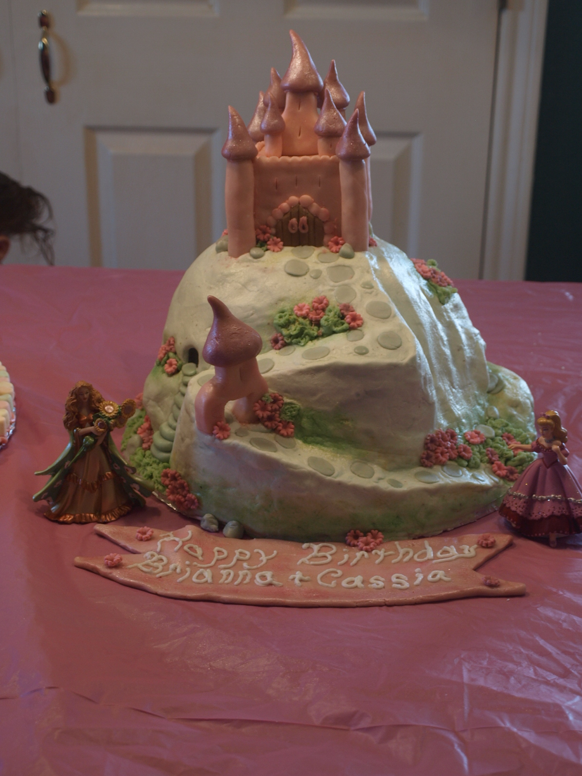 Missy S Homemaking Adventures Pink Castle On A Mountain Cake