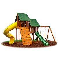 Wooden Play Swing Set Backyard Wooden Swing Set