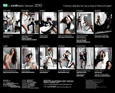 Miss Italy Official Calandar 2010