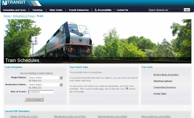 How To Search Njt Train Schedules From New Jersey Transit
