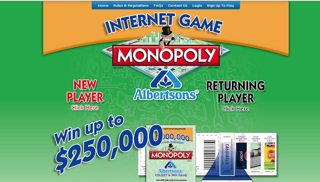 Albertsons Monopoly Game Available At Playmonopoly.us