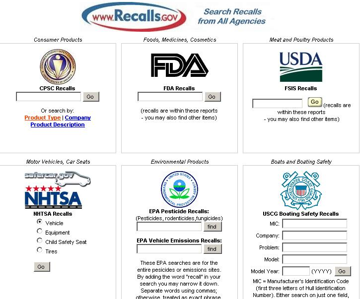 Recalls gov: Your online Resource for Recalls | Web to Visit