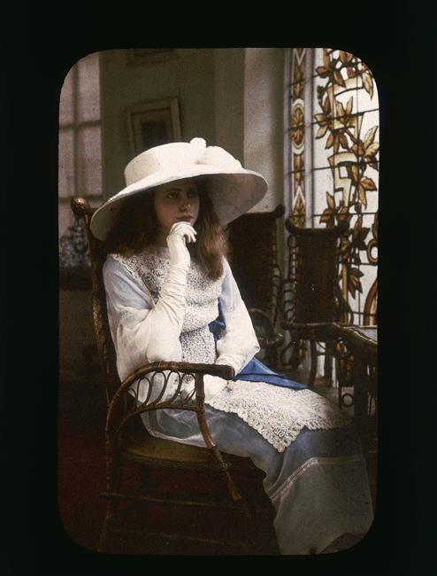 Vintage Blog Autochrome 1910 Portrait Of A Young Girl