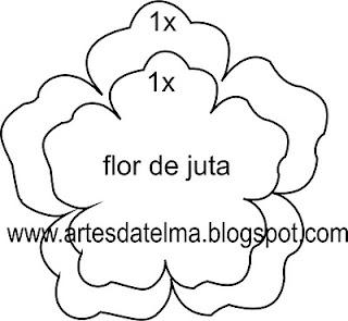 MOLDE DA FLOR DE JUTA