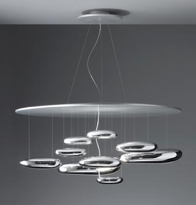 Mercury Suspension light by Ross Lovegrove for Artemide