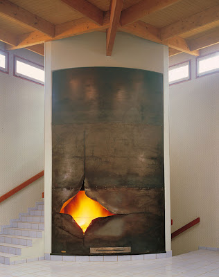Eclat sculptural fireplace