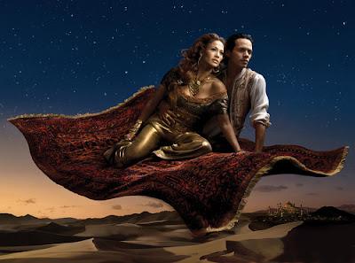 Jennifer Lopez as Jasmine and husband Marc Anthony as Aladdin