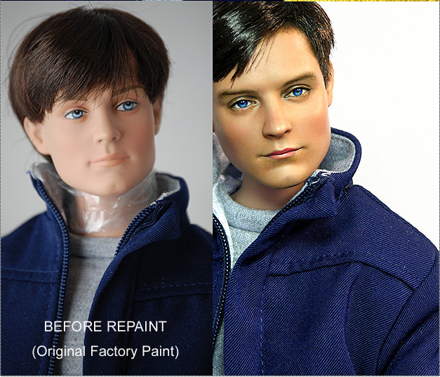 repainted Tobey Maguire Doll