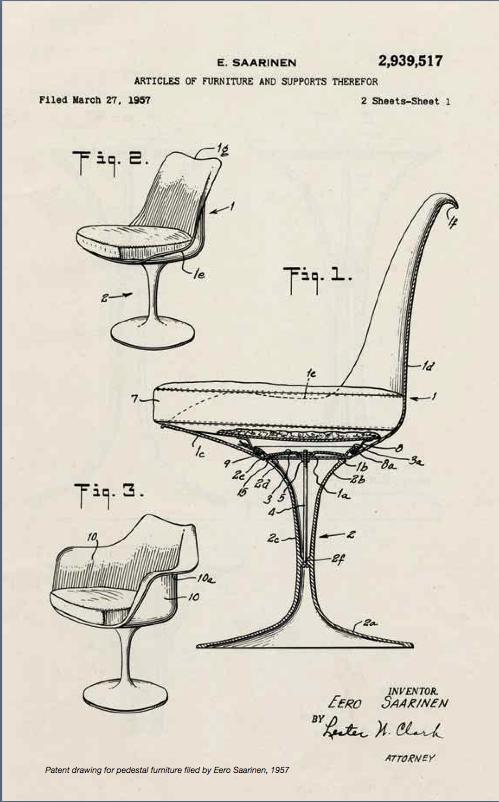 saarinen tulip patent