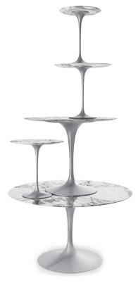 saarinen tulip tables with marble tops