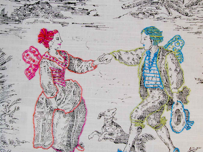 ... Takes On Toile Is By Historically Innaccurate Decorative Arts Where  Richard Saja Takes Classically Traditional Toile Fabric And Embroiders Such  Modern ... Part 77