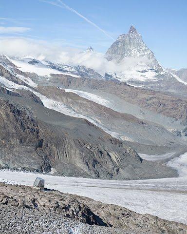 Monte Rosa lodge in the alps