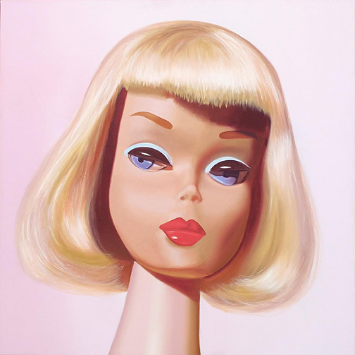 mzgraciev hyper realistic paintings of retro barbies by judy ragagli