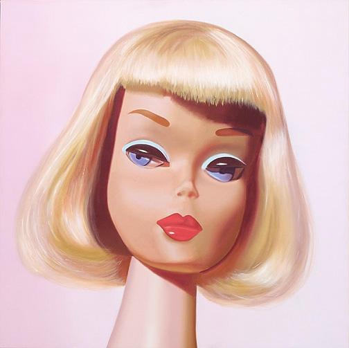 barbie painting by Judy Ragagli