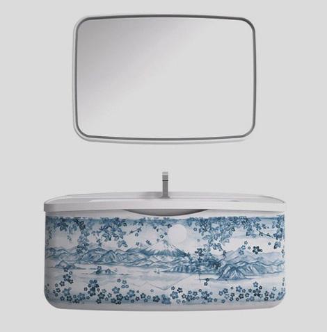 blue willow bathroom vanity