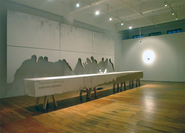 Francine LeClercq, The Last Supper Untitled (installation), 2007