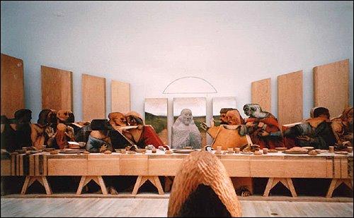 Marisol Escobar's Last Supper (1930) installation