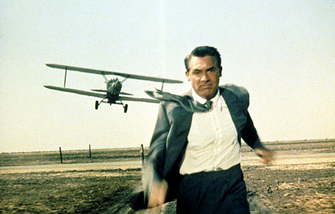 Original still of Cary Grant in North by Northwest. MGM/Photofest.