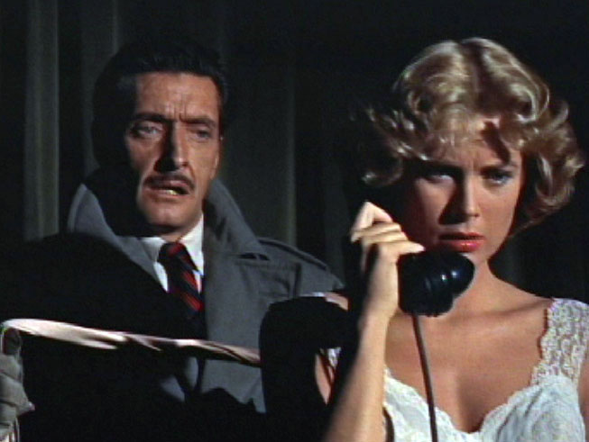 original still of Anthony Dawson and Grace Kelly from Dial M for Murder.