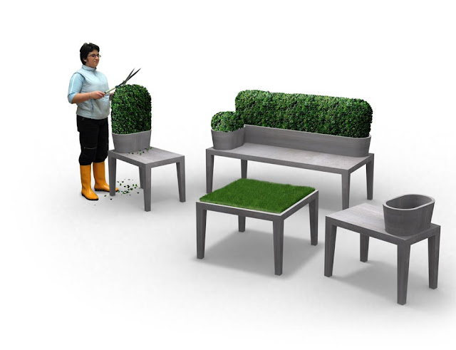 The Gardening bench by 5.5 Designers