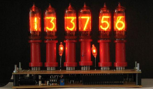modern nixie tube clock