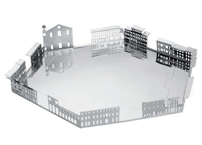 silver architecture tray