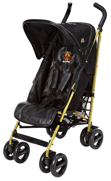 maclarens special edition gold plated buggy