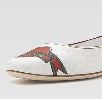 Gucci tattoo Heart Collection flats