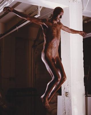 life sized chocolate Jesus