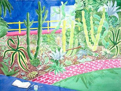 david hockney cactus garden