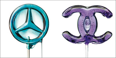 peace and chanel lollipops