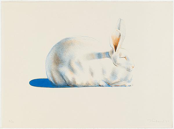 Wayne Theibaud rabbit drawing