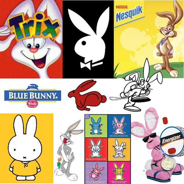 Bunnies as brand icons