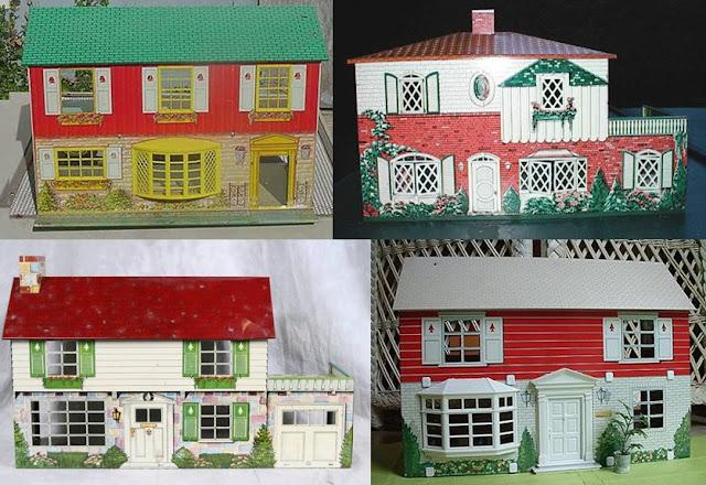 old tin litho dollhouses