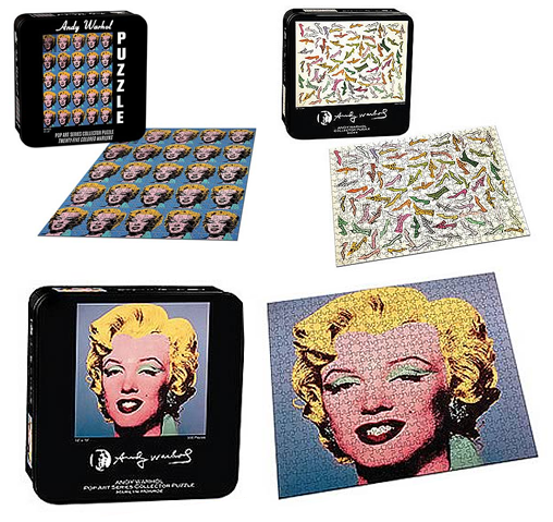 Andy Warhol Marilyn and Shoe puzzles