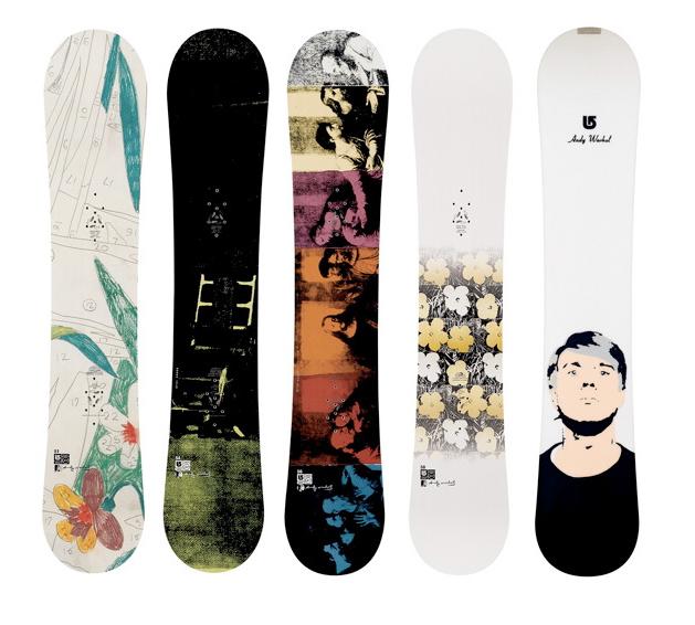 Burton Snowboards Andy Warhol collection