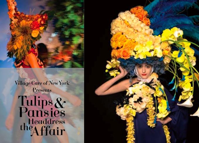 Tulips & Pansies Headdress Affair