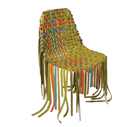 woven wool suit for the Pastoe Wire chair