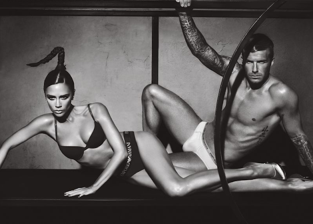 The Beckhams for Emporio Armani, photographed by Mert Alas and Marcus Piggott