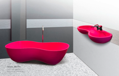Karim Rashid's Kouple Tub and Wash Basin