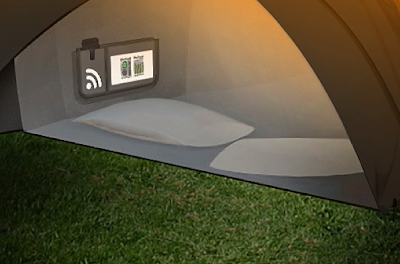 The heart of the Concept Tent is a central wireless control hub which displays energy generated and consumed as well as providing a wireless internet signal ... & The Chill nu0027 Charge Solar Tent From Orange - if itu0027s hip itu0027s here