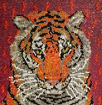 tiger made with gemstones