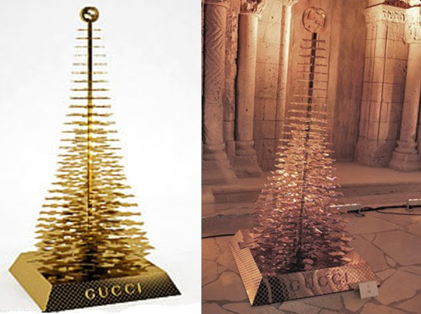 if its hip its here archives hermes gucci louis vuitton more designers create christmas trees for charity - Designer Christmas Tree