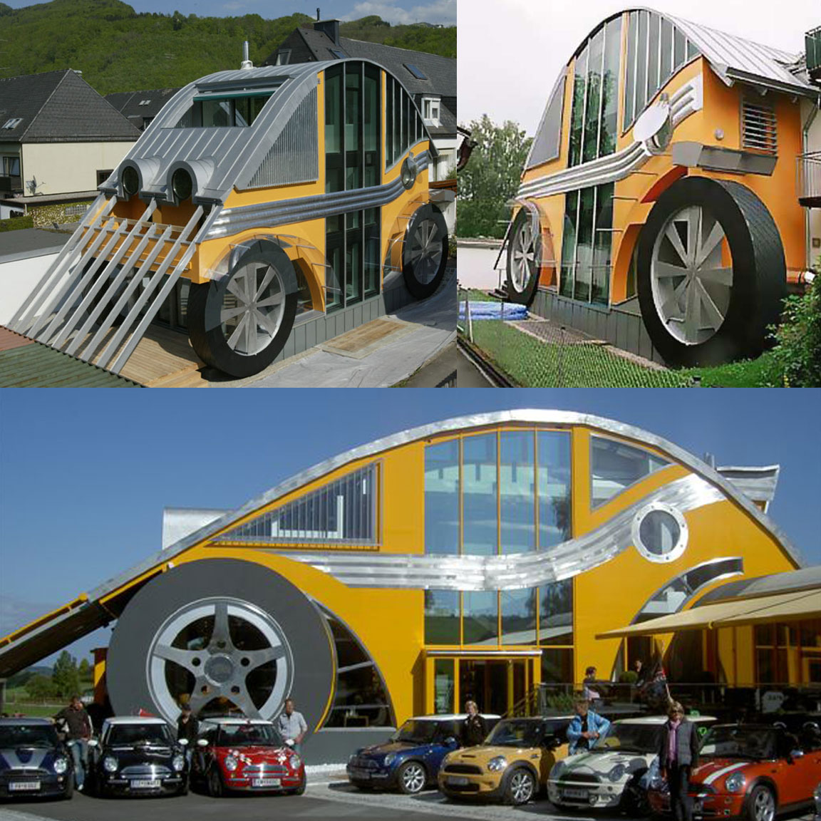 carchitecture a car house and restaurant inspired by the vw beetle rh ifitshipitshere com vw bug fan house cutaway vw bug headlight assembly