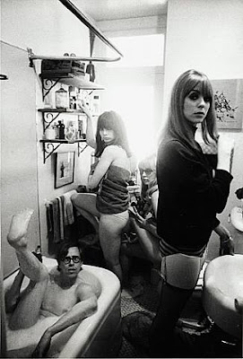 Bruce Conner in bath tub, 1964