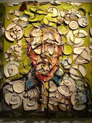 Julian Schnabel's Plate painting of Hopper