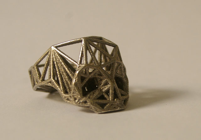 Duann Scott Structural Steel Skull Ring