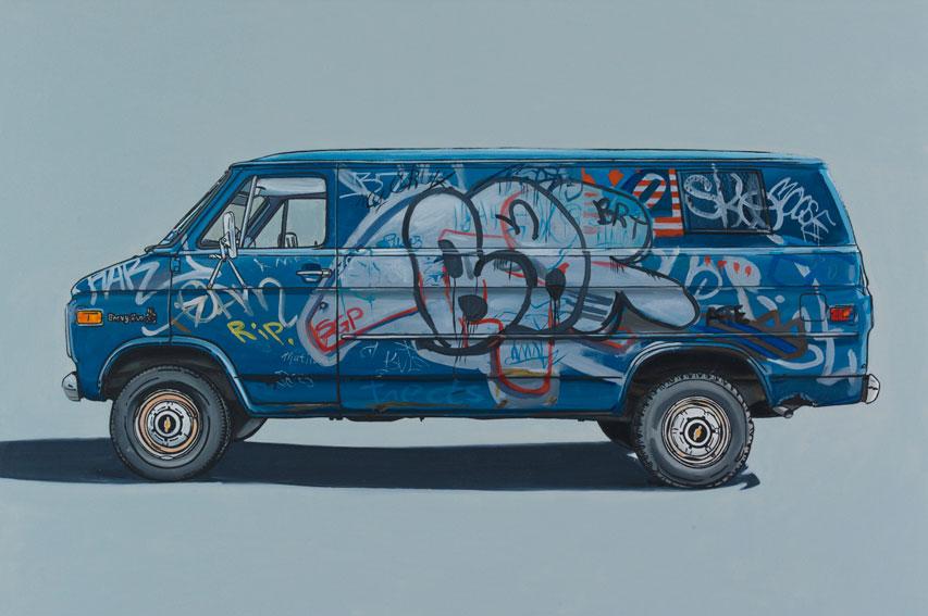 paintings of old vans in brooklyn