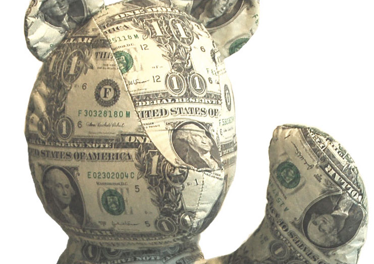 Teddy Bear made with US Currency
